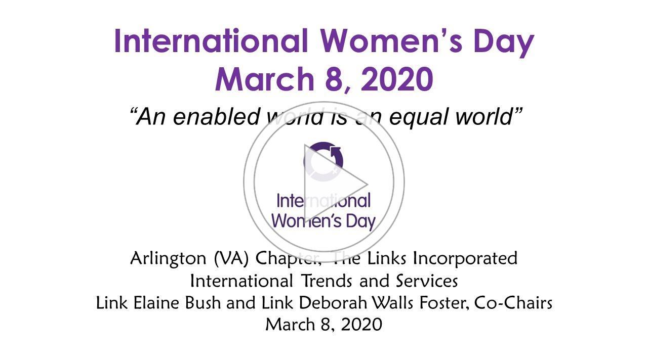Arlington VA Links Celebrate International Women's Day