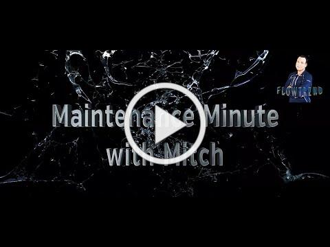 Maintenance Minute with Mitch Valve and Pump Leakage