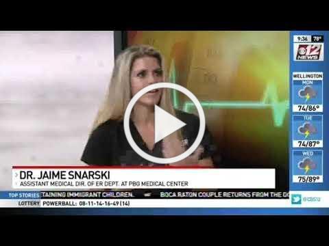 Dr. Jaime Snarski of PBGMC is interviewed on heat illness