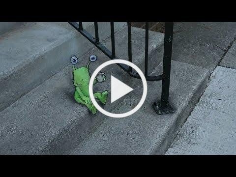 Full Frame Close Up: The Chalk Creatures of Ann Arbor