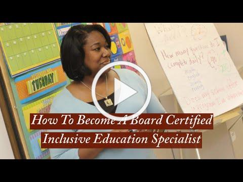 Board Certified Inclusive Education Specialist (BCIES) -b