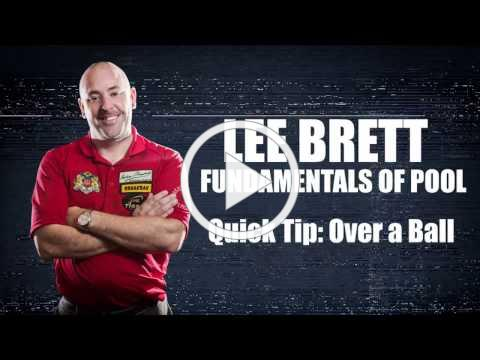 APA - Lee Brett Billiard Instruction Series - Quick Pool Tip - How to Shoot Over A Ball