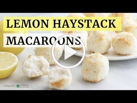 Lemon Coconut Haystack Macaroons | Gluten-Free Snack or Dessert Recipe | Limoneira