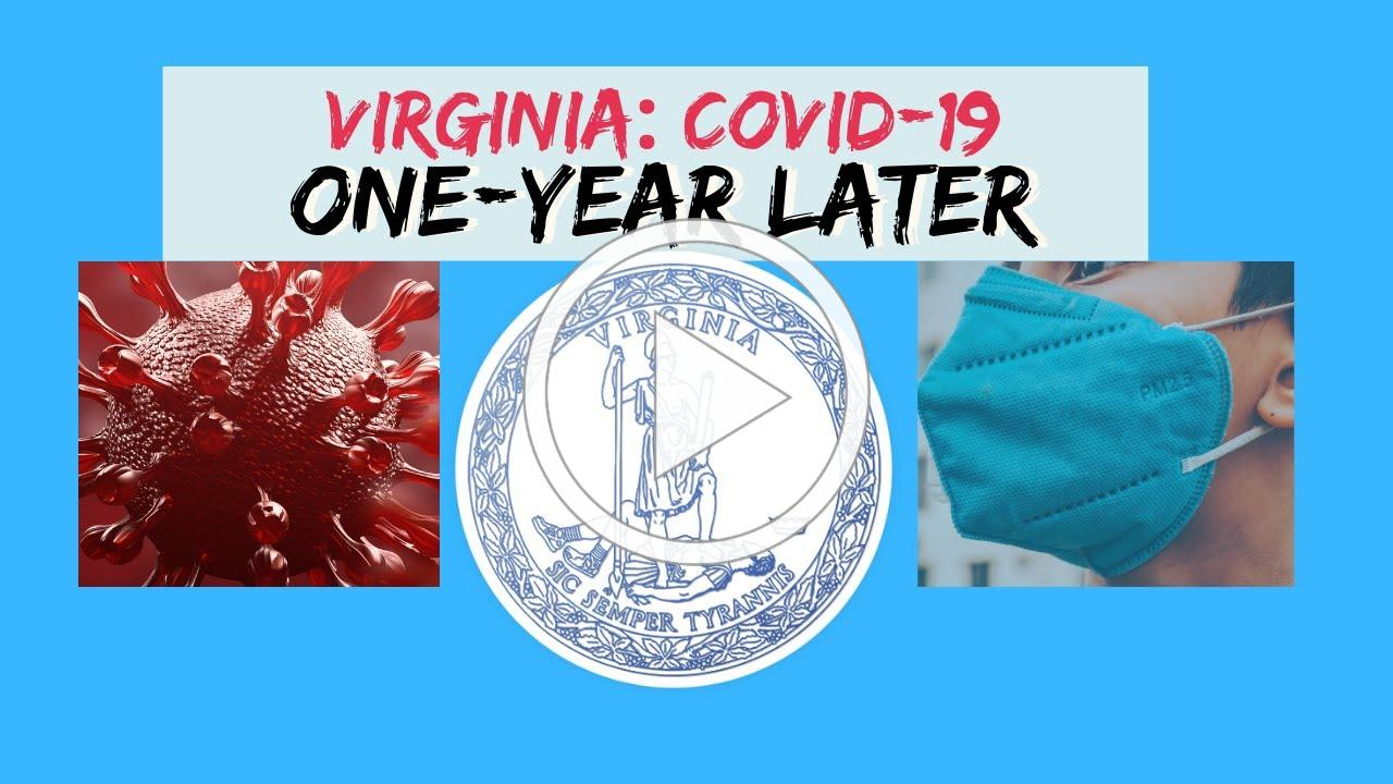 On March 14, 2020, we had Virginia's first COVID-19 death.