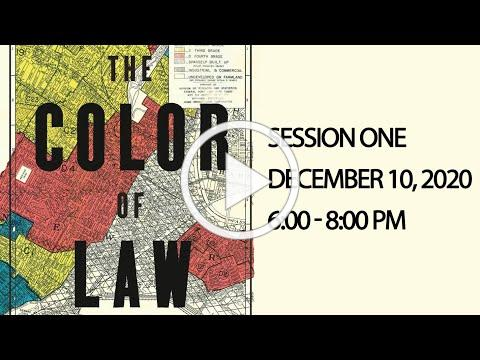 City of Columbia and Local Partners Present A Four Part Community Conversation on The Color of Law