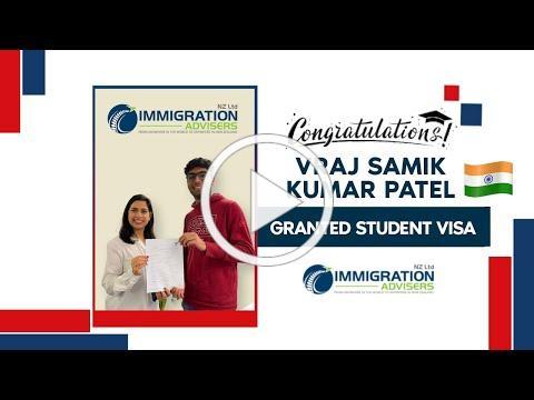IANZ Client Success Stories | Vraj Samik Kumar Patel | Granted Onshore Student Visa