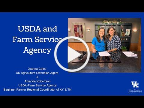 USDA and Farm Service Agency