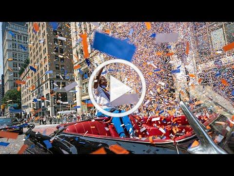 Hometown Heroes celebrated with ticker-tape parade in New York City