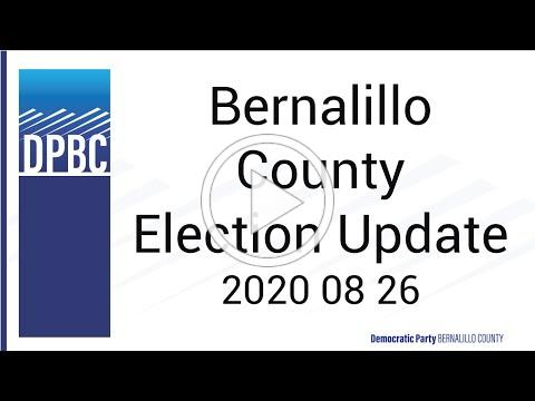 Bernalillo County Election Update 2020 08 26