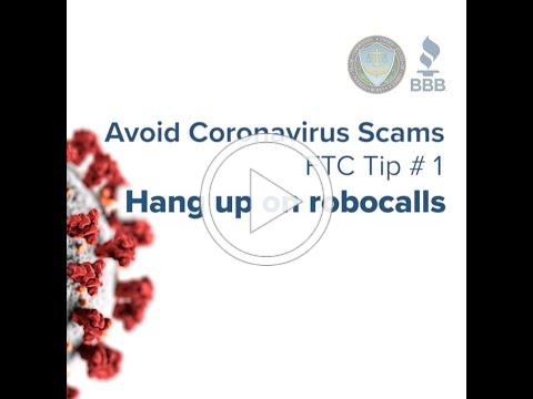 Avoid Coronavirus Scams - Tip 1: Hang up on robocalls | Federal Trade Commission