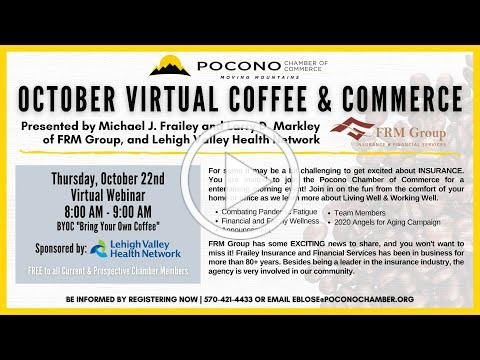 October Virtual Coffee & Commerce Featuring the FRM Group