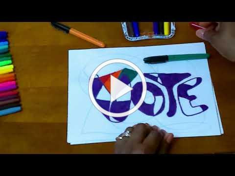 ART Now Lesson 18: Scribble Art With Bubble Lettering