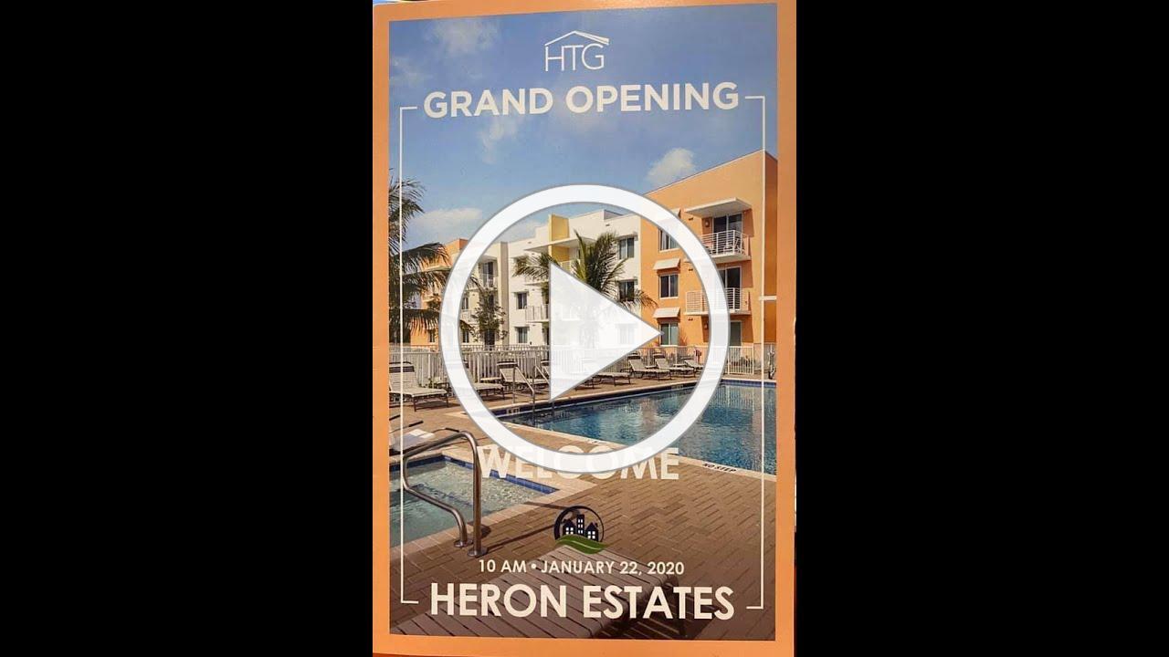 Heron Estates Grand Opening January 22, 2020
