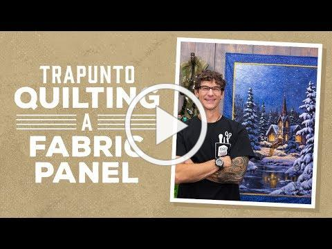 Trapunto Quilting on a Fabric Panel