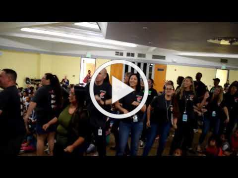 American Lakes staff asked to dance at school rally