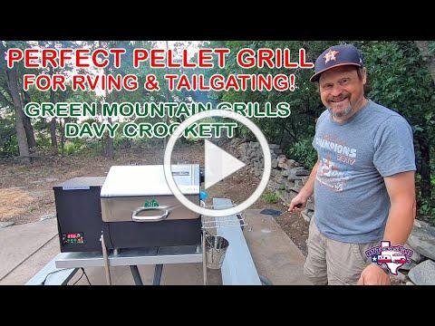 Perfect Portable Pellet Grill for RVers/Tailgaters | Green Mountain Grills Davy Crockett