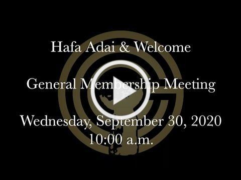 Guam Chamber of Commerce General Membership Meeting, September 2020