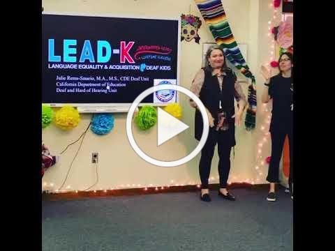 Julie Rems-Smario gives a presentation about LEAD-K at Latinx leadership retreat.