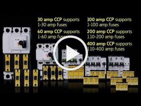 The Power of Space - Eaton Bussman CCP UL® 98 Listed fused branch-circuit disconnect