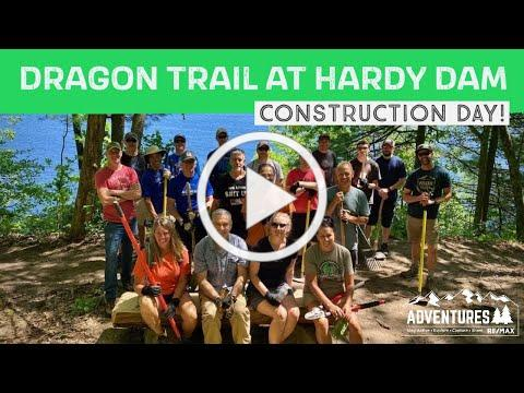 Dragon Trail at Hardy Dam | Construction Day at New Michigan Mountain Bike Trail!!!