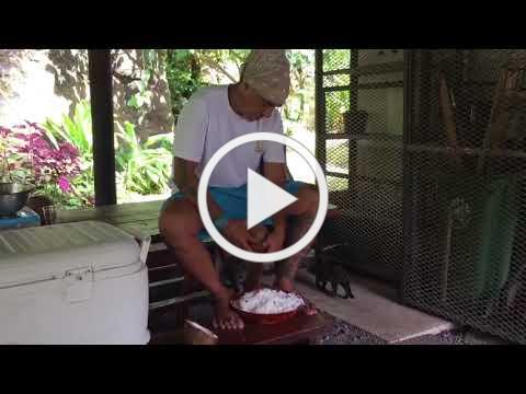 Shredding Coconut