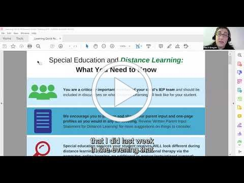Special Education and Distance Learning: What You Need to Know Toolkit