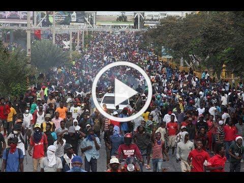 Violent protests in Haiti may mean a humanitarian crisis