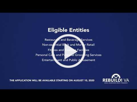 RebuildVA Small Business Grant