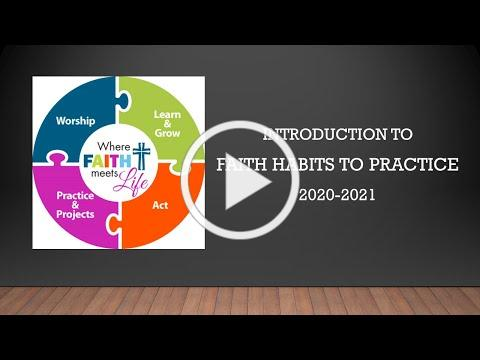 Faith Habits to Practice Introduction