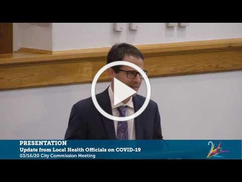 COVID-19 Panel | March 16, 2020 City Commission Meeting