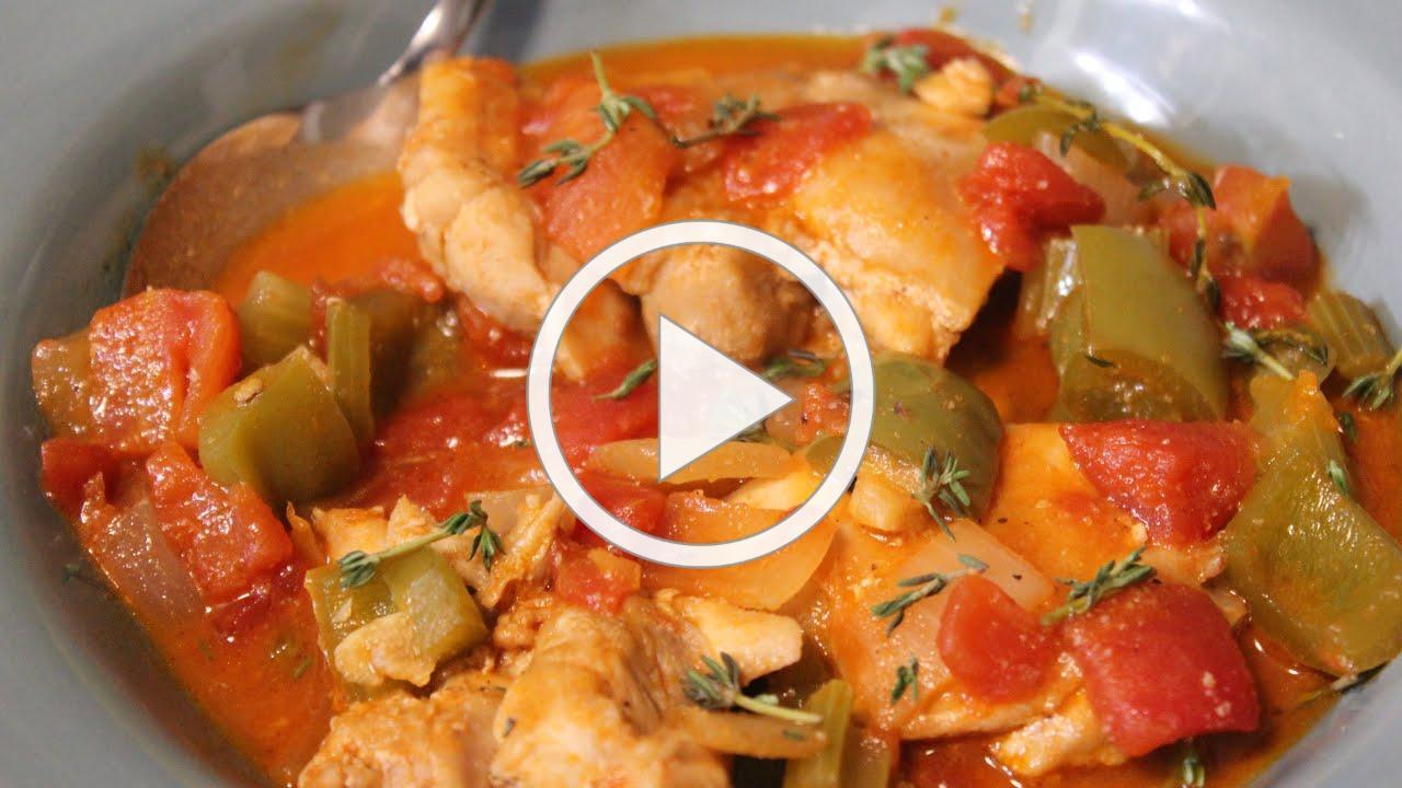 Chicken Thighs, Stewed (Louisiana Inspired)