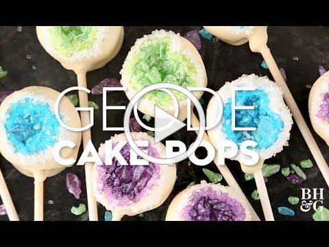 Geode Cake Pops