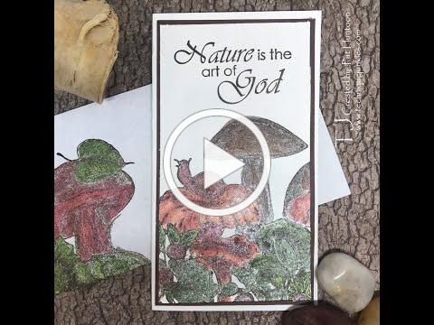 Glittered Forest Floor Slimline Card