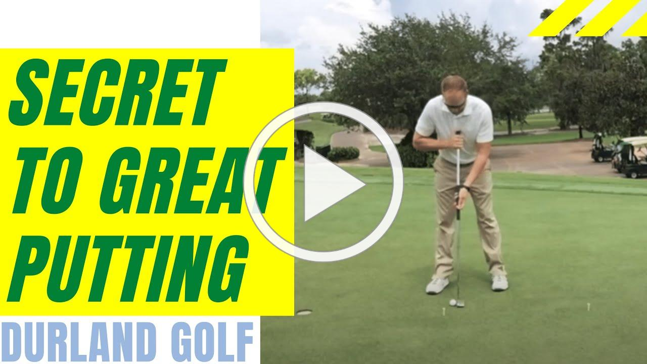 GOLF TIP | Secret to Great Putting