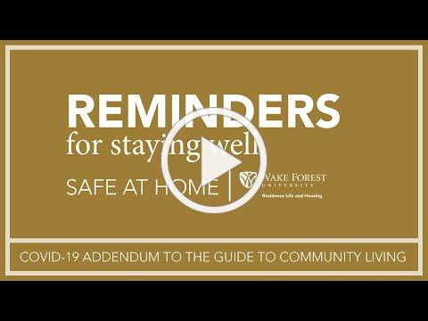 Guide to Community Living Update Reminders - Spring 2021