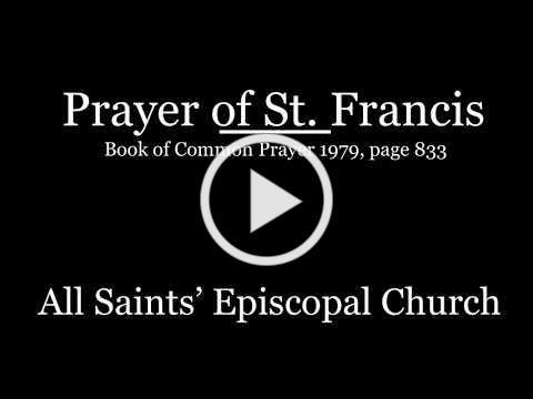Peace Prayer of Saint Francis
