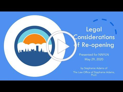 Legal Considerations for Libraries with Stephanie 'Cole' Adams - May 29, 2020