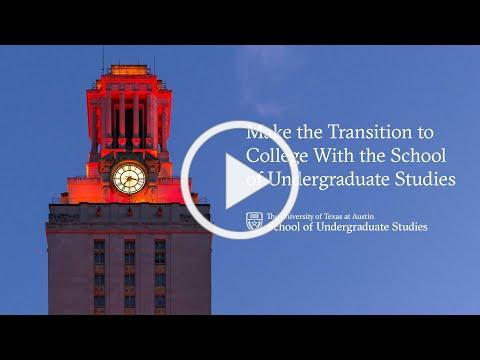 Make the Transition to College With the School of Undergraduate Studies