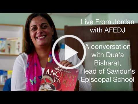 Live from Jordan: Dua'a Bisharat at Saviour's Episcopal School