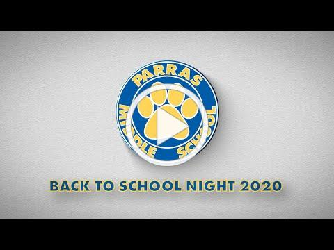 Parras Middle School Back To School Night 2020