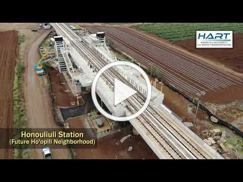 HART Construction Update Video - Ewa-most stations