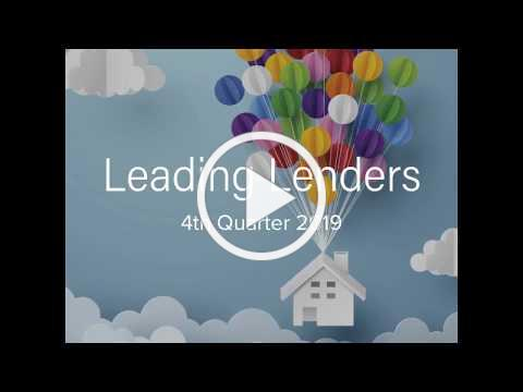 Leading Lenders for Fourth Quarter 2019