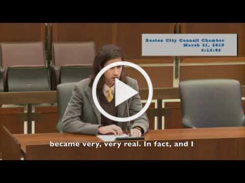 Jairam Rao's Boston City Council Testimony on Climate Change - March 2019 w/English subtitles