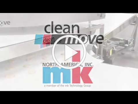 mk North America CleanMove Belt Conveyors with Power 90 Turn