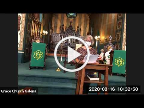 Grace Episcopal Church, Galena, IL, August 16, 2020