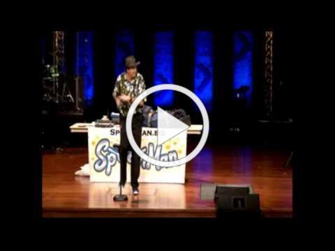 Spoon Man - Jim Cruise - Spoon Playing 2014