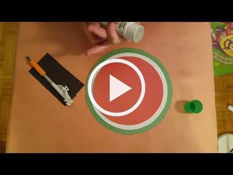 (Cantonese)做手工: 立体西瓜 Craft: 3D paper watermelon
