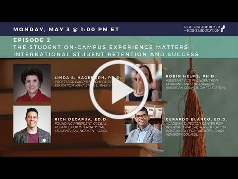 International Student Webinar Series Episode 2: The Student On-Campus Experience Matters 5-3-21