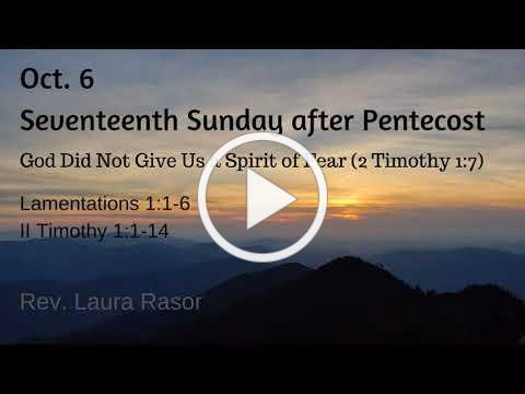 Oct. 6, 2019, Rev. Laura Rasor