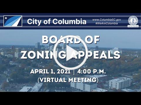 Board of Zoning Appeals | April 1, 2021